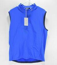 NEW KJUS Mens Diamond Fleece Golf Vest Size 52 EU / M/L Palau Blue (retail $169)