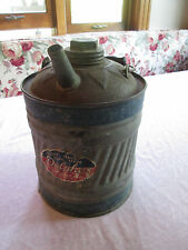Vintage Delphos 1 Gallon Galvanized Metal Gas Can