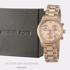 Authentic Michael Kors Ladies Mini Runway Rose Gold Chronograph Watch MK5430
