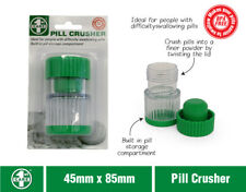 Pill Medicine Crusher Grinder Tool Tablet Box