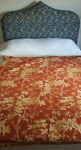 Vintage Red & Gold Jacquard Heavy Woven Bed Cover Throw or Wall hanging 2 of 2