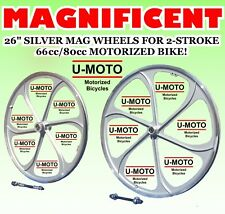 New Diy Mag Wheels For 2-Stroke 80cc Motorized Bicycle Kit And Bikes
