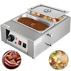 Commercial Electric Chocolate Tempering Machine 8kg Melter Maker W/2 Melting Pot