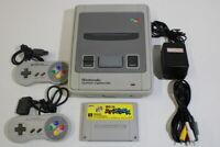 Nintendo Super Famicom Console Mario Picross Bundle SFC SNES Japan Import K1365