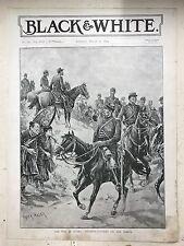 The War In Korea: Japanese Cavalry Marching: 1894 Black & White Magazine Print