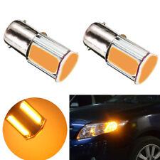 1pcs Car Amber/Yellow 8000K 1156 4 COB LED Turn Signal Rear Light Bulb Lamp