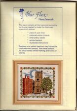 Blue Flax Needlework Cross Stitch Embroidery Mosaic Décor Kit St Mary at Lambeth