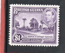 Br. Guiana GV1 1938-52 $1 bright violet sg 317 VLH.Mint