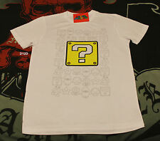 Nintendo Mario Mens Play The Game White Printed T Shirt Size L New