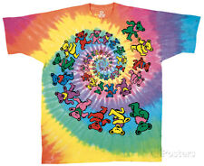 Grateful Dead - Spiral Bears Apparel T-Shirt L - Tie Dye
