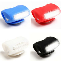 7 Led Bike Bicycle Silicone Frog Head Front Warning Safty Rear Light Lamp 4Color