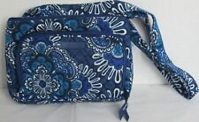 Vera Bradley Women Purse Shoulder Bag Handbag LITTLE HIPSTER BLUE TAPESTRY