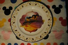 Disney Aladdin Ceramic Dinner Plates set of 4 Nwt