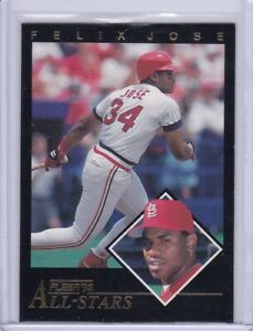 Felix Jose 1992 Fleer All-Stars Baseball Card 1 of 24 Grade NMMT
