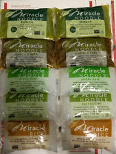 10 Pack of Miracle Noodle Pasta No Carb No Gluten (Angel Hair Rice & Fettuccini)