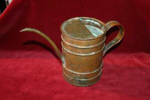 Superb Hand Crafted Antique Small Heavy Copper Watering Can
