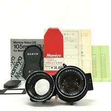 Mamiya Sekor DS 105mm F3.5 TLR Blue Lens for Mamiya C w/ Box Cap etc [JC]