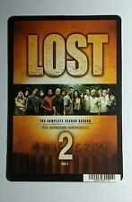 LOST SECOND SEASON 2ND COVER ART BROWN TAN MINI POSTER BACKER CARD (NOT a movie)