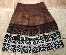 James Perse Per Se Linen Silk Skirt size 8 Fine Fringe Hem