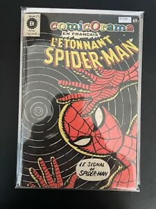 Spider-Man 114,115,117,118 In French 1 Colored Page Low Grade Comic D7-124