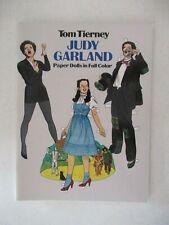 1982 Judy Garland Paper Dolls Tom Tierney New
