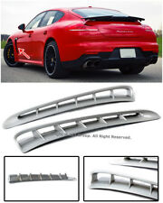 Turbo Style Silver Grey Front Side Fender Vent Grille For 10-16 Porsche Panamera