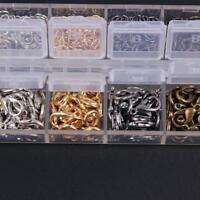 120pcs Lobster Clasps Hooks 840pcs DIY Making Jewelry Findings Metal Jump Rings