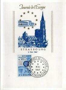 1521 + FDC    CARTE  1er JOUR  EUROPA   0F30    1967  STRASBOURG