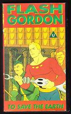 FLASH GORDON - TO SAVE THE EARTH - ORIGINAL ANIMATED - PAL VHS (UK) VIDEO - RARE