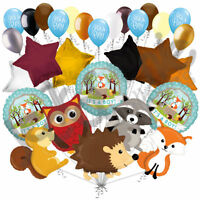 29pc Woodland Creatures It's a Baby Boy Animals Balloon Bouquet Party Decoration