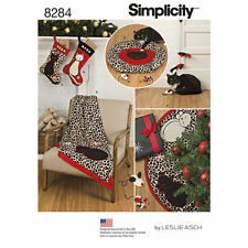 Simplicity SEWING PATTERN 8284 Christmas Stockings,Tree Skirt,Cat Bed & Cat Toys