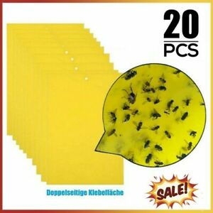 20 X Sticky Board Large Catcher Glue Insect Flies Pest Traps Adhesive Board-Pad
