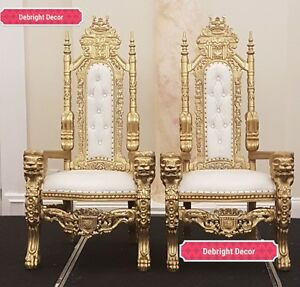 LION KING & QUEEN STUNNING THRONE CHAIR FOR HIRE ONLY