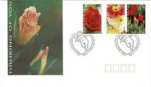 AUSTRALIA 1994 GREETINGS STAMPS FLOWER PAINTINGS SET OF 3 FIRST DAY COVER