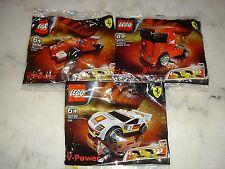 LEGO / lot of 3 Ferrari / Shell V-Power Promo / *Polybags* Brand New! OOP!!!