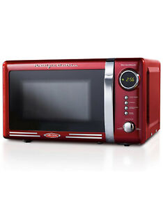 Nostalgia Retro 0.7 Cubic Foot Microwave Oven, Cu.Ft Red (a)