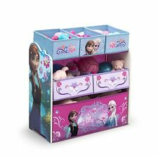 Toy Organizer, Children, Frozen, Fabric, Wood, Colorful Graphics, Sturdy, NEW