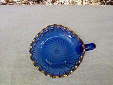 EAPG King's 500 Pattern in Cobalt with Gilt Trim