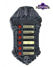 Haunted Mansion Doorbell Halloween Light And Sounds Animated Decoration