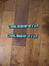 80's Chevrolet Celebrity Side Emblems Pair