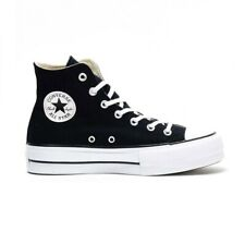 Scarpe Donna Converse All Star Platform Hi Zeppa Nero Black 35 36 37 38 39 40 41