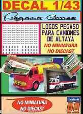 DECAL 1/43 LOGOS PEGASO PARA CAMIONES ALTAYA (NO MINIATURA / NO DIECAST) (01)