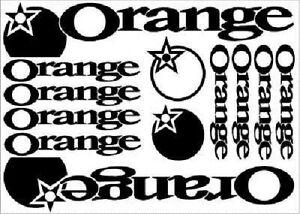 ORANGE Mountain Bike Vinyl Decals Stickers x12 Cycling new FREE POSTAGE