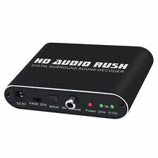 HD Audio Rush Digital Audio Surround Decoder 5.1 Channel Optical SPDIF / Co D5S7
