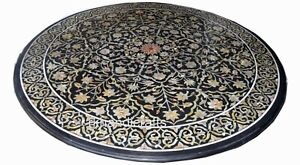 48 Inch Marble Dining Table Top Inlay Office Meeting Table with Mother of Pearl