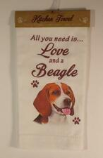 Beagle Kitchen Dish Towel ~100% Cotton Brand New and Adorable too!
