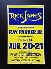 RICK JAMES &  RAY PARKER JR.  FORUM -  ORIGINAL VINTAGE CONCERT PROMOTION POSTER
