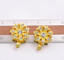 10 Sets Crystal Rhinestone Flower Box Clasp for Bracelets Necklace