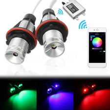 RGB LED Angel Eyes Halo Ring Lights With WIFI Remote Marker For BMW E39 E60 E87