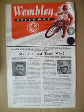 1956 Speedway Programme- ENGLAND v SWEDEN; May the Best Team Win !